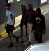 Police would like to speak to these four men who they believe may have further information in relation to criminal activity on Bath Street overnight.