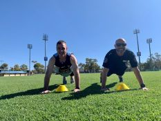 Local media personality Justin Fenwick took on Superintendent Neil Hayes in the Police Fitness Assessment to see just how fit you have to be to become a police officer.