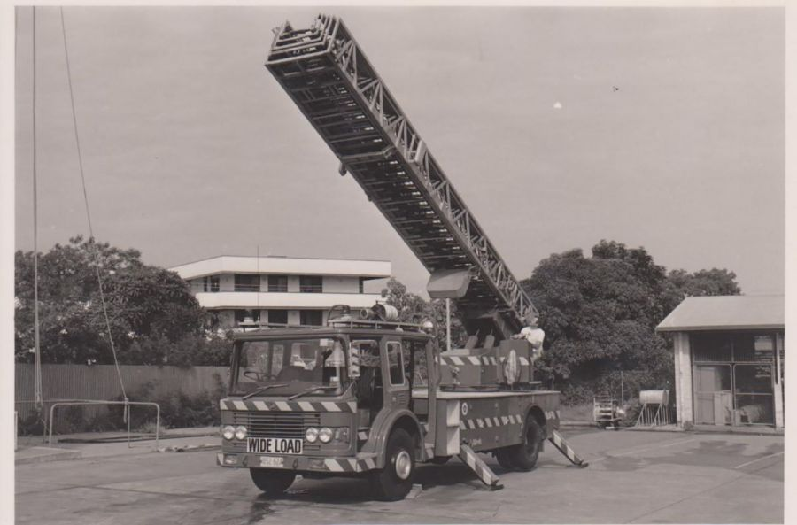 Turntable ladder at daly street fire station